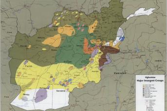 Расположение сил исламистов в Афганистане