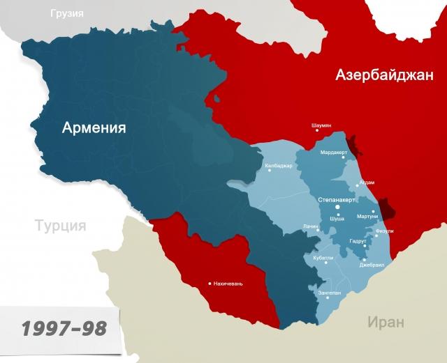 Карта Карабаха