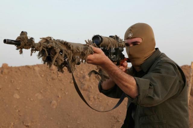 Снайпер рабочей партии Курдистана (РПК)
