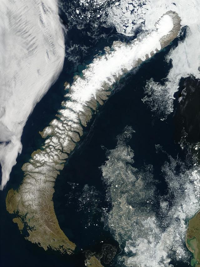 Новая Земля. Вид из космоса