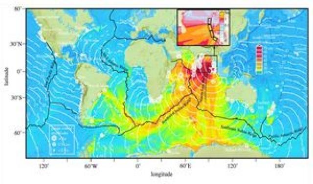 Рис. 32. Цунами в Индийском, Атлантическом и Тихом океанах 26 декабря 2004 г