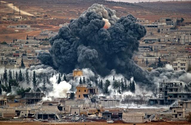 Бомбардировка. Сирия