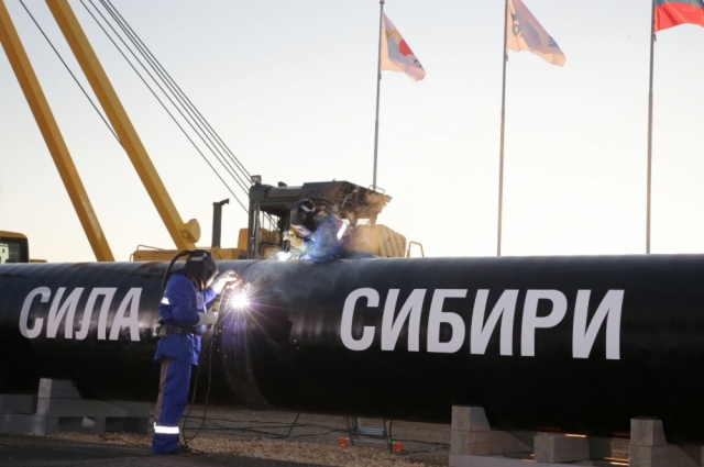 Сварка первого стыка газопровода «Сила Сибири»