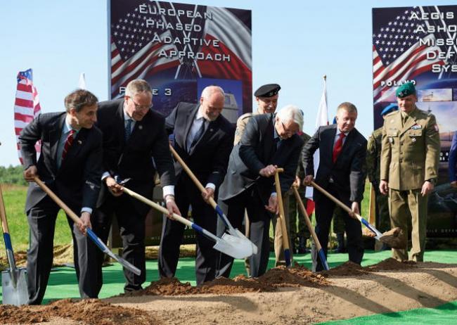Церемония открытия строительства базы противоракетной обороны США в поселке Редзиково, Польша, 14.09.2016