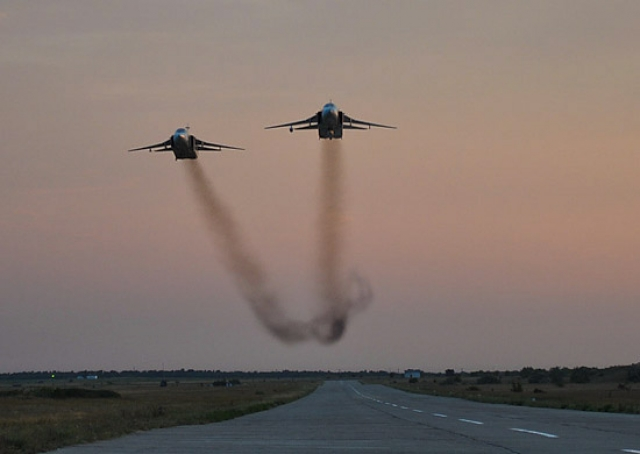 Бомбардировщики Су-24 в Сирии