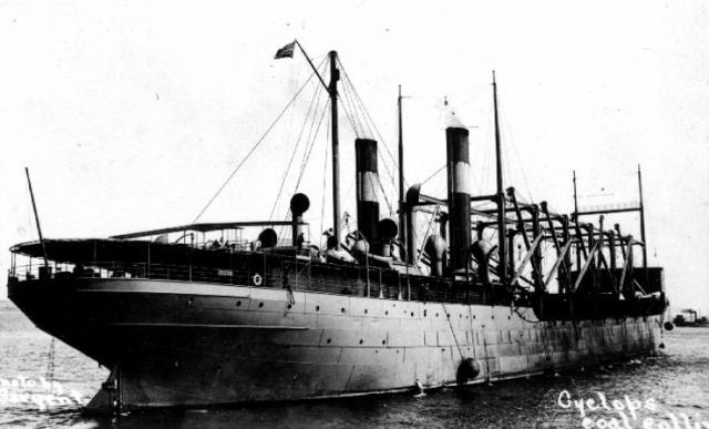 Корабль «Циклоп». 1913