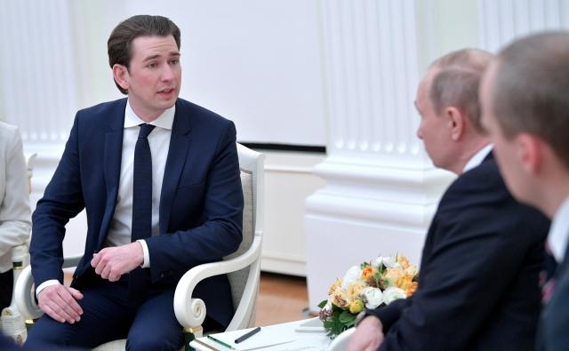 Переговоры Владимира Путина с Федеральным канцлером Австрии Себастианом Курцем