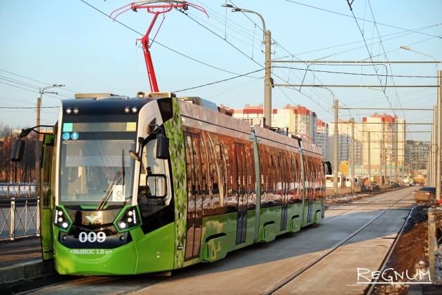 Трамвай «Чижик» в Красногвардейском районе