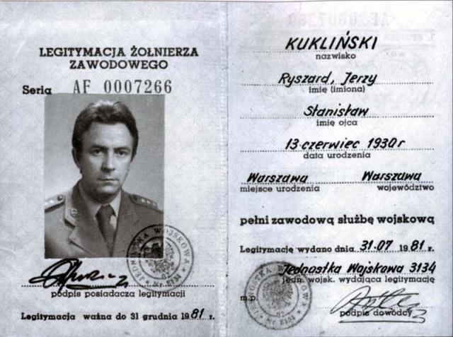 Военное удостоверение полковника Куклинского