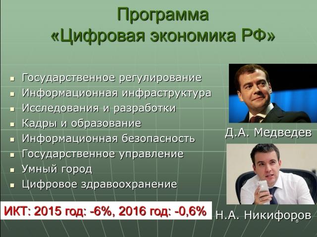 Программа «Цифровая экономика РФ»