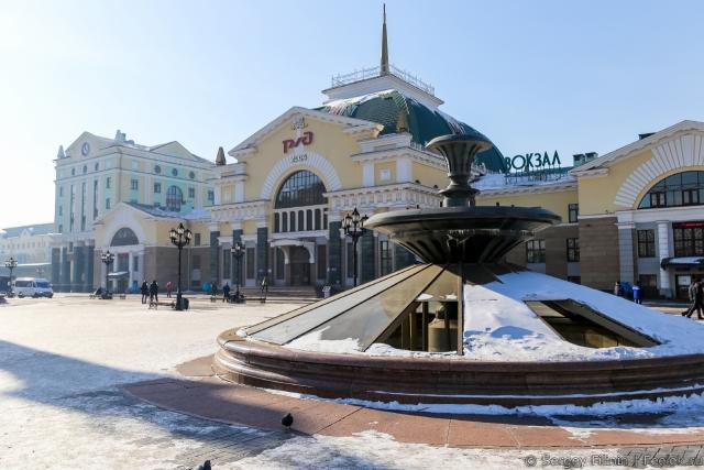 Непрезентабельный фонтан в Красноярске