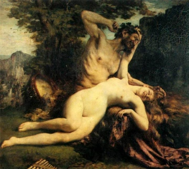 Бугро Адольф-Вильям. Нимфы и Сатир