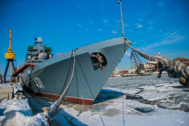 Фрегат-невидимку в Петербурге подготовили к вселению экипажа