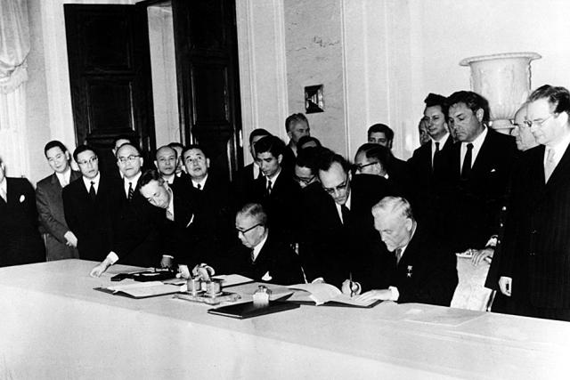 Подписание Совместной советско-японской декларации, восстановившей дипломатические отношения между СССР и Японией