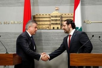 Премьер-министры Армении и Ливана Карен Карапетян и Саад Харири