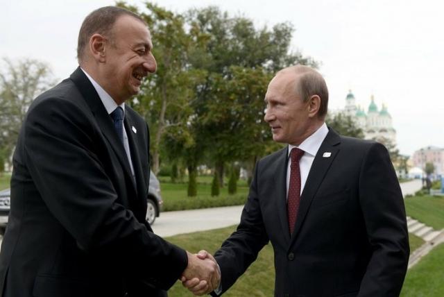 Президенты России и Азербайджана