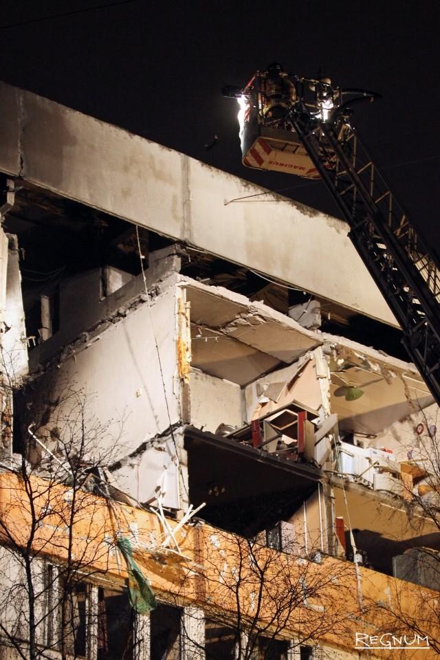 Разрушенные квартиры после взрыва в Петербурге
