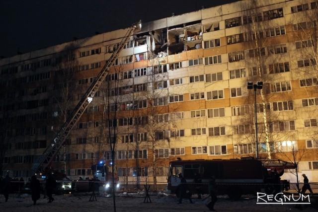 Обследование места взрыва