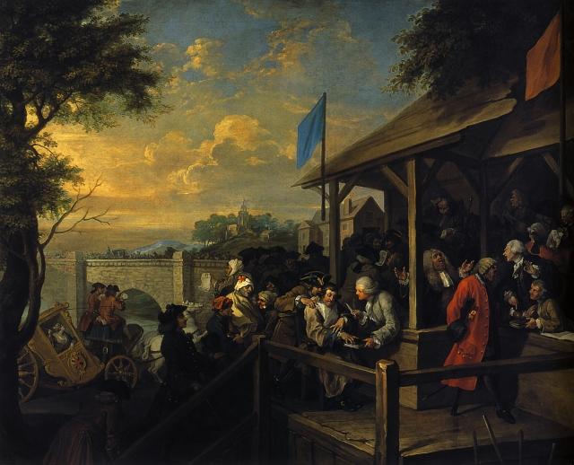 Уильям Хогарт. Выборы в парламент. 1754
