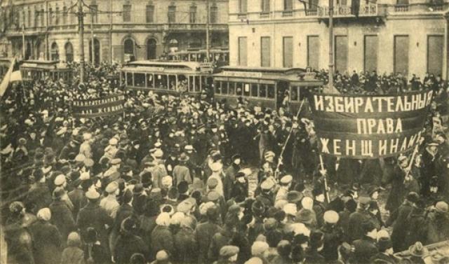 Митинг за избирательные права женщин. Петроград. 1917