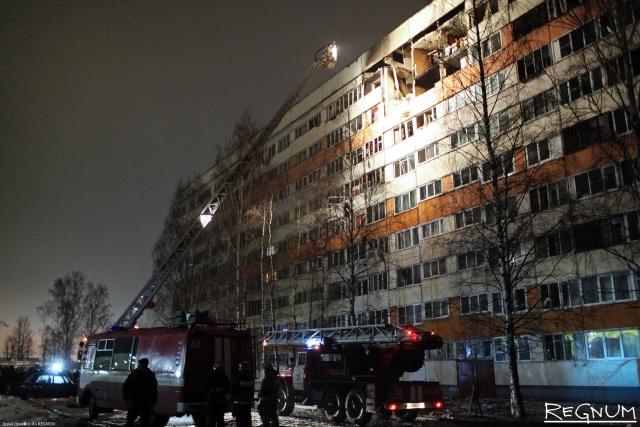 Пострадавший при взрыве дом в Петербурге восстановят за месяц