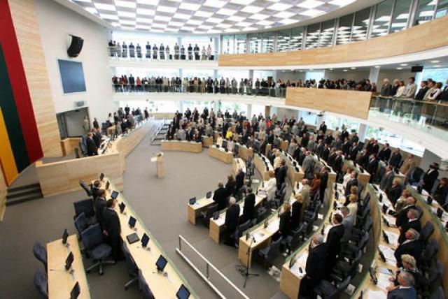 На заседании Сейма Литвы