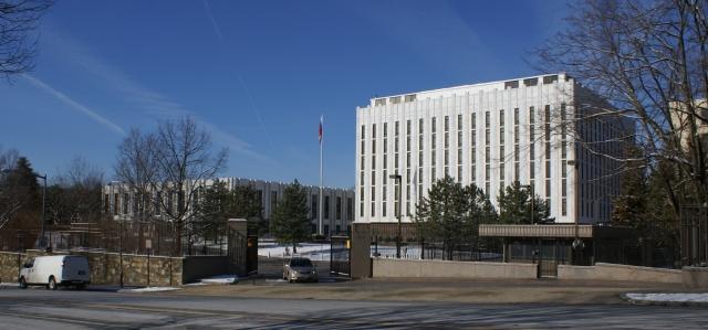 Вертолёт, круживший над посольством РФ в США, выполнял задание