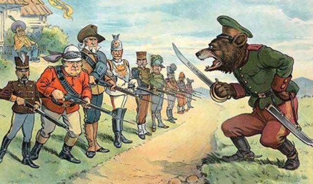 Русофобская карикатура времен развитого империализма
