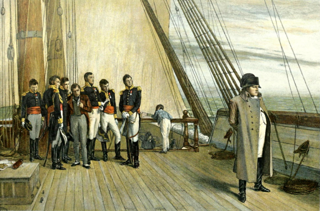 Наполеон на корабле