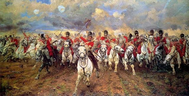 Элизабет Томпсон. Атака шотландской кавалерии в битве при Ватерлоо