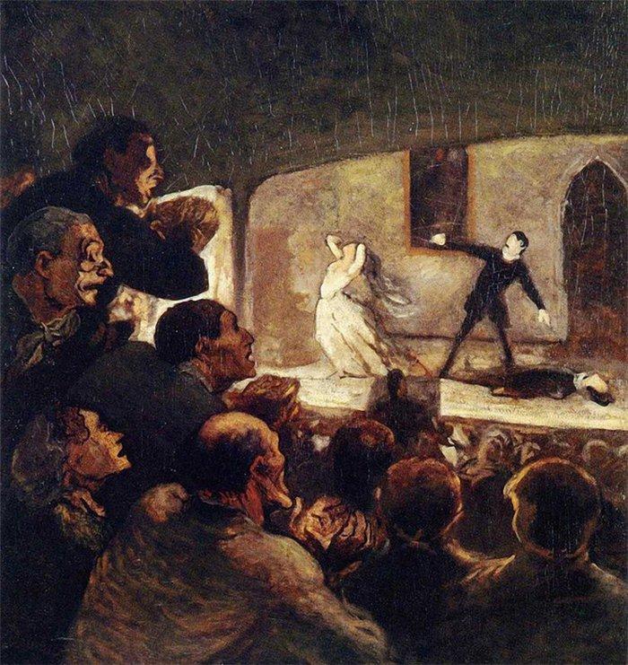 Оноре Домье. Представление. 1860