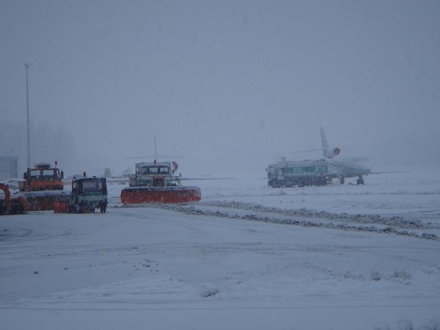 Сильные снегопады парализовали авиасообщение на северо-востоке США
