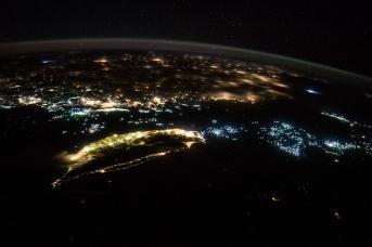 Тайвань и Китай. Ночной снимок из космоса. NASA