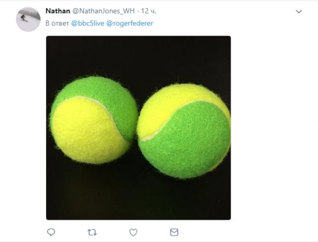 Федерер добавил масла в огонь: в сети спорят, какого цвета теннисные мячи