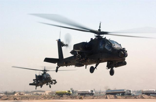 Американский вертолет AH-64 Apache