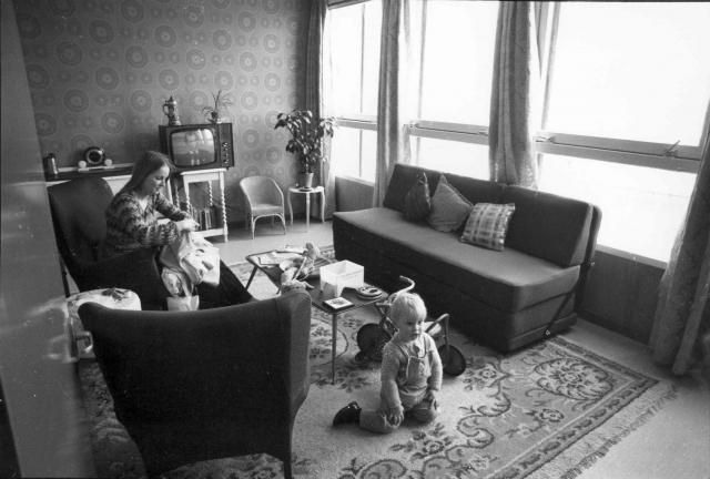 Интерьер квартиры в «Садах» в 1972 году