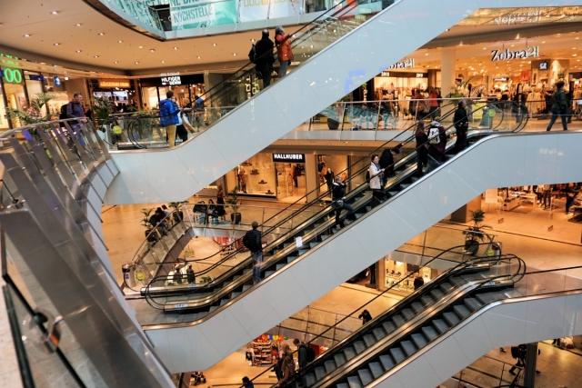 Эскалаторы. Торговый центр