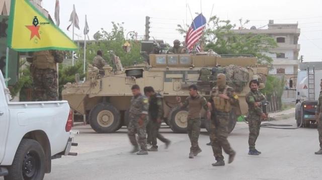 Американские солдаты и Отряды народной самообороны Курдистана