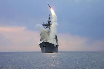 Пуск крылатой ракеты Tomahawk
