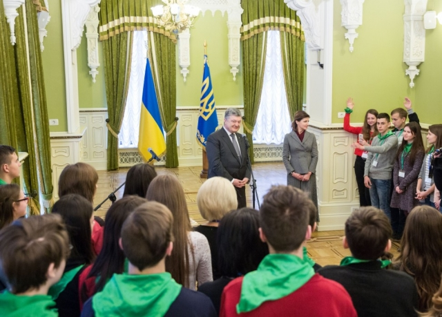 Пётр Порошенко встречается с детьми
