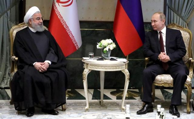 Беседа Владимира Путина с Хасаном Рухани