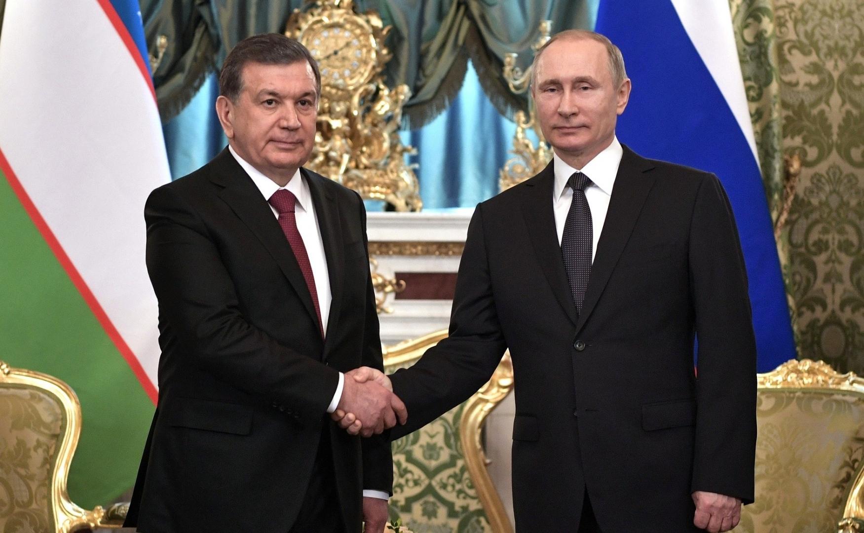 Официальная церемония встречи с Президентом Узбекистана Шавкатом Мирзиёевым. 2017