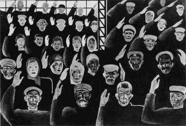 Александр Дейнека. Постановили единогласно. 1925