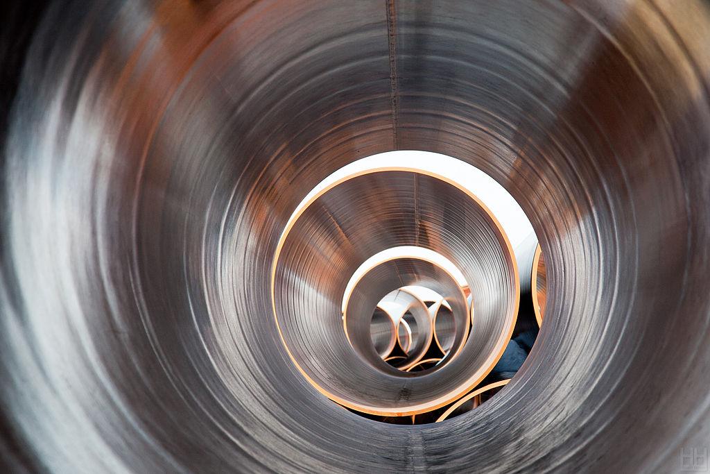 Трубы «Северного Потока — 2» до обработки антикоррозийными покрытиями