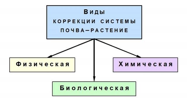 Виды коррекции продукционного процесса