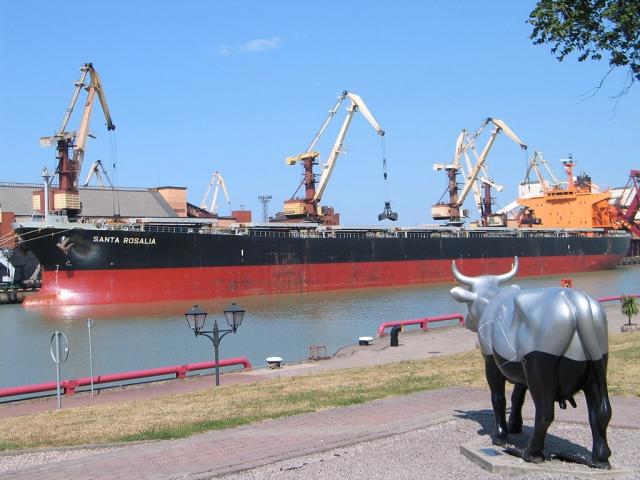 В морском порту Вентспилса
