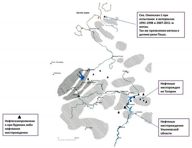 Рис. 20. Прогнозная схема распространения трапповых формаций в осадочной толще