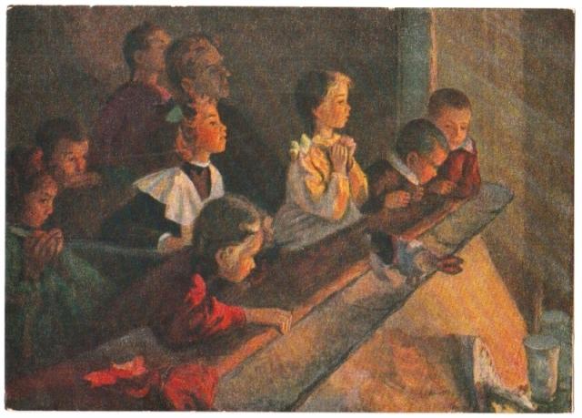 Дети в театре. 1955
