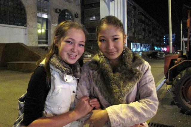 Молодые жительницы Казахстана