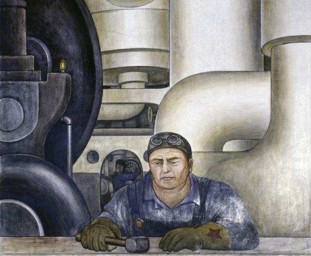 Диего Ривера. Детройт. Рабочий. 1932